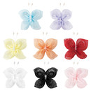 Muka 200 Pcs Sew-on Satin Rose Flowers Butterfly Garment Accessories Wholesale