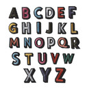 Muka 104 Pcs Colorful Alphabet Letter Patches A-Z Embroidered Appliques for DIY Craft Sewing Project