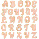 Muka 26 Pcs Chenille Letters Patches Iron-on Appliques Towel Embroidery Clothing DIY Accessories