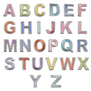 Muka 26 Pcs Colorful Alphabet Letter Patches Iron-on & Sew-on Embroidered Appliques for DIY Craft Sewing Project