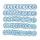 Muka 50 Pcs 1 - 50 Embroidery Number Patches Iron-on & Sew-on Applique DIY Sewing Clothes Accessories for School / Work Uniform, 1