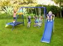 Sportspower MSC-3242-BM Almansor Metal Swing, Slide and Trampoline Set