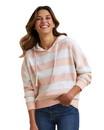 MV Sport W21721 Women's Striped Fleece Boxy Hooded Sweatshirt