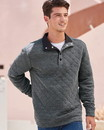 J.America 8890 Quilted Snap Pullover