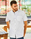 Burnside 9290 Peached Printed Poplin Short Sleeve Shirt