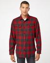 Burnside 8219 Snap Front Long Sleeve Plaid Flannel Shirt