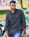 Burnside 8200 Long Sleeve Solid Flannel Shirt