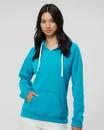 J.America 8836 Women's Sueded V-Neck Hooded Sweatshirt