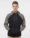 J.America 8612 Colorblocked Cosmic Fleece Hooded Sweatshirt