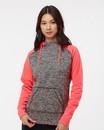 J.America 8618 Women's Colorblocked Cosmic Fleece Hooded Sweatshirt