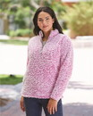 J.America 8451 Women's Epic Sherpa Quarter-Zip Pullover
