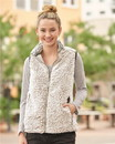 J.America 8456 Women's Epic Sherpa Full-Zip Vest