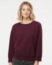 Independent Trading SS240 Juniors' Heavenly Fleece Lightweight Sweatshirt