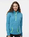 J.America 8617 Women's Cosmic Fleece Quarter-Zip Pullover