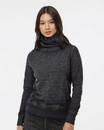 J.America 8930 Women's Zen Fleece Cowl Neck Sweatshirt