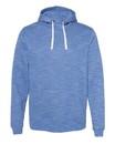 J.America 8677 Mélange Fleece Hooded Sweatshirt
