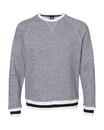 J.America 8702 Peppered Fleece Crewneck Sweatshirt