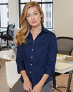 Van Heusen 13V0527 Women's Three-Quarter Sleeve Baby Twill Shirt