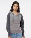 J.America 8926 Women's Zen Fleece Raglan Hooded Sweatshirt