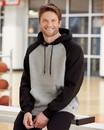 Russell Athletic 693HBM Dri Power® Colorblock Raglan Hooded Sweatshirt