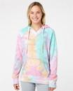 MV Sport W1162 Women's Courtney Burnout V-Notch Hooded Sweatshirt