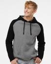 Independent Trading IND40RP Raglan Hooded Sweatshirt
