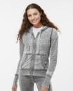 J.America 8913 Women's Zen Fleece Full-Zip Hooded Sweatshirt
