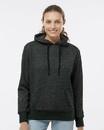 J.America 8860 Women's Glitter French Terry Hooded Sweatshirt