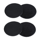 Aspire Pack of 4 Faux Leather Drink Coasters Round Office Cup Mat Beverage Bar Favors