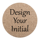 Aspire Custom Cork Coaster for Drinks, Personalized Printed Monogram Initial and Name Coaster
