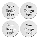Aspire Personalized Round Stainless Steel Coasters for Drinks, Nice Custom Gifts