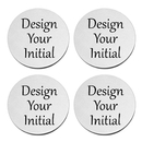 Custom Round Stainless Steel Coaster for Drinks Personalized Monogram Initial and Name Coaster