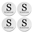 Aspire Custom Round Coaster Stainless Steel Personalized Monogram Initial Wedding Coaster