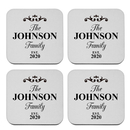 Aspire Custom Stainless Steel Coasters, Customized Name Initial Coaster, Wedding Favors