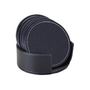Aspire Set of 6 PU Leather Absorbent Coasters for Drinks with Holder Bar Beer Beverage Coasters