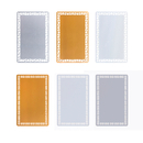 Muka 100PCS Sublimation Metal Business Card Blanks, Hollowed-Out Aluminum Plates, 86X54X0.22MM