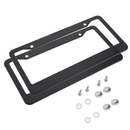 Muka 2 Pack Aluminum Metal License Plate Frames with Screw Caps for US Vehicles