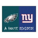 Fanmats 10306 NFL - Eagles - Giants House Divided Rug 33.75