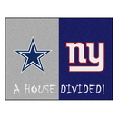 Fanmats 10308 NFL - Cowboys - Giants House Divided Rug 33.75