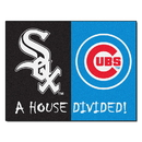 Fanmats 12247 MLB - White Sox - Cubs House Divided Rug 33.75