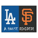 Fanmats 12249 MLB - Dodgers - Giants House Divided Rug 33.75
