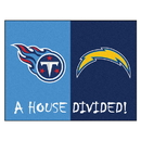 Fanmats 14117 NFL - Chargers - Titans House Divided Rug 33.75