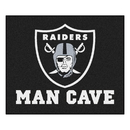 Fanmats 14351 NFL - Oakland Raiders Man Cave Tailgater Rug 59.5