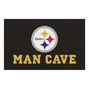 Fanmats 14358 NFL - Pittsburgh Steelers Man Cave UltiMat 59.5