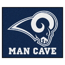 Fanmats 14375 NFL - Los Angeles Rams Man Cave Tailgater Rug 59.5
