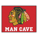 Fanmats 14409 NHL - Chicago Blackhawks Man Cave All-Star Mat 33.75