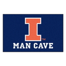 Fanmats 14643 Illinois Man Cave UltiMat 59.5