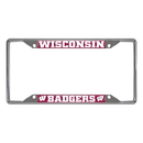 Fanmats 14934 Wisconsin License Plate Frame 6.25