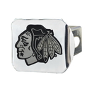 Fanmats 14963 NHL - Chicago Blackhawks Chrome Hitch Cover 3.4
