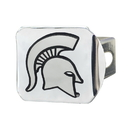 Fanmats 15073 Michigan State Chrome Hitch Cover 3.4
